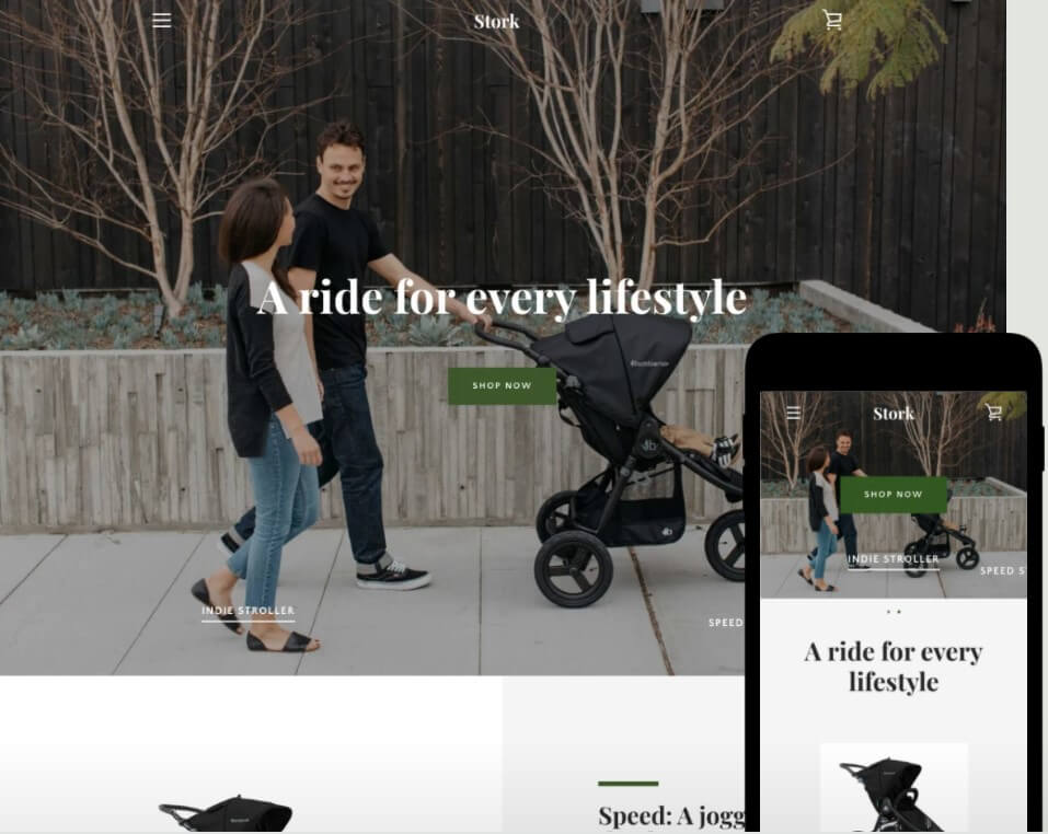 Narrative Theme - Cold - Ecommerce Website Template